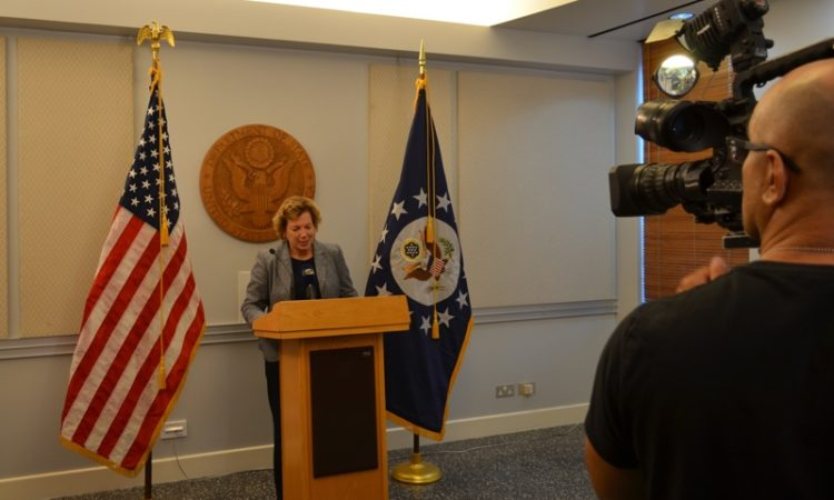 Ambassador Doherty addresses press representatives on U.S. election results