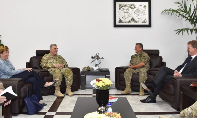 LtoR: Ambassador Doherty, General Milley, Chief Leontaris, British High Commissioner Lillie